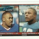 1991 Topps   Rushing Leaders    # 9    Barry Sanders / Thurman Thomas