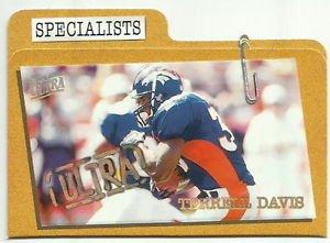 1997  Fleer Ultra   Specialist   Parallel  Insert    # 12   Terrell Davis