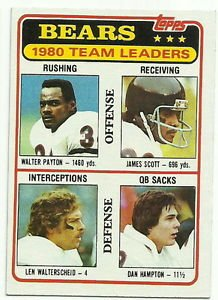 1981  Topps   Bears Team Leaders   #264 Walter Payton / Dan Hampton