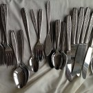 Oneida Stainless Flatware 43 Pieces - Spring Ballad