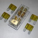 APS 4PCS FREE 20A FUSE MAXI Fuse holder 3 X 4GA IN 2X 8GA OUT GOLD PLATED