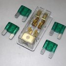APS FREE 4PCS 30A FUSE MAXI Fuse holder 3 X 4GA IN 2X 8GA OUT GOLD PLATED