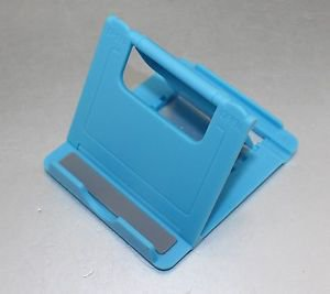 APS Universal Fold stand for MINI PORTABLE PHONE & TABLET STAND HOLDER DOCK blue