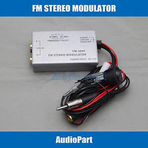 APS US SHIPPING Factory Radio Stereo FM Modulator RCA AUX Input Audio Converter