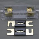 APS US SHIPPING ANL Fuse holder INLINE 0 4 8 GA GOLD PLATED FREE 2X250A ANL FUSE
