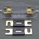 APS ANL Fuse holder Distribution INLINE 0 4 8 GA GOLD PLATED FREE 80A ANL FUSE