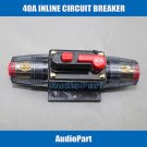 APS 40A Car Audio Inline Circuit Breaker Fuse for 12V Protection CB02-40A