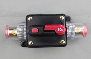 APS 2PCS 80A Car Audio Inline Circuit Breaker for 12V Protection SKCB-04-80A