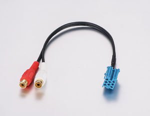 APS For Blaupunkt Aux cable car audio parts audio cable Two RCA female BLA-2RF
