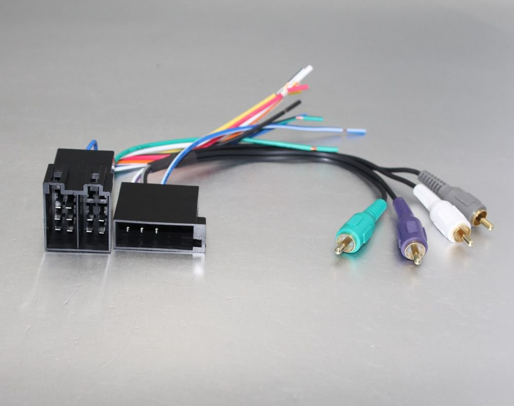 APS Amplifier Radio Harness w/RCAs to Factory Harness for 1987-2002 Volkswagon
