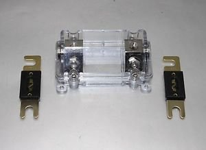 APS PREMIUM ANL FUSE HOLDER 0 or 2 GAUGE CAR AMP INSTALL FREE ANL FUSE 80A