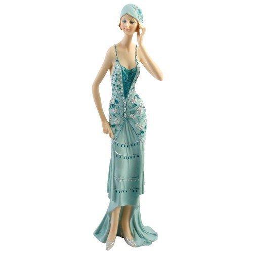 Art Deco Broadway Belles Lady Figurine holding hat