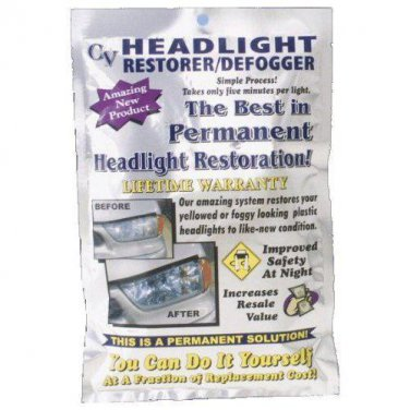 Headlight Restoration system CV Crystal View Restoration Kit all Cars and Trucks
