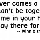 Winnie the Pooh Quote - Vinyl Wall Art - Keep Me In Your Heart…
