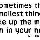 Winnie the Pooh Quote - Vinyl Wall Art - The Smallest Things…