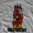 World Industries Skate Skating Shirt White Boys New Size Small