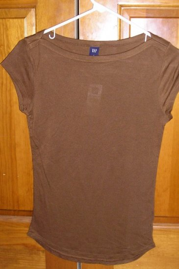 Gap Womens Teens Girls Sheer Shirt or Top Brown New Small