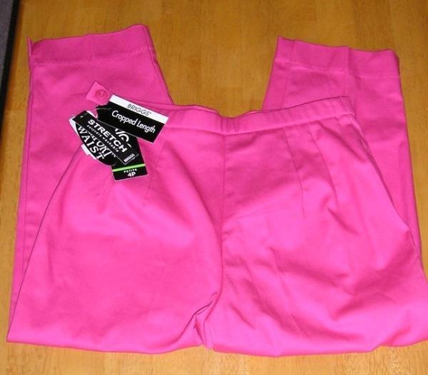 Briggs Capri Pants Capris Womens Teens Girls Fucia Color Size 4P NEW