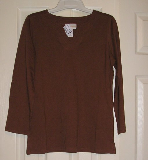 Christie and Jill LS Scoop NeckTop Shirt Womens Teens Girls Size Small NEW