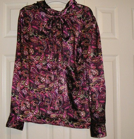 Liz Baker Career or Dressy Top Blouse Womens Teens Size 10 Tall NEW