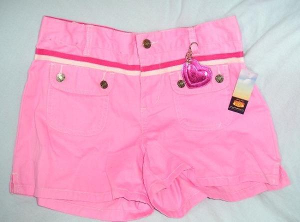 Route 66 Pink Girls Shorts Teens Juniors Size 16 + Bonus NEW
