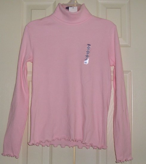 SALE Old Navy Pink Girls Teens LS T-Neck Top - Cute!!