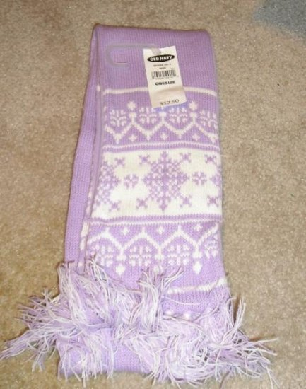 NEW Old Navy Fleece Lined Winter Scarf Purple $12.50~