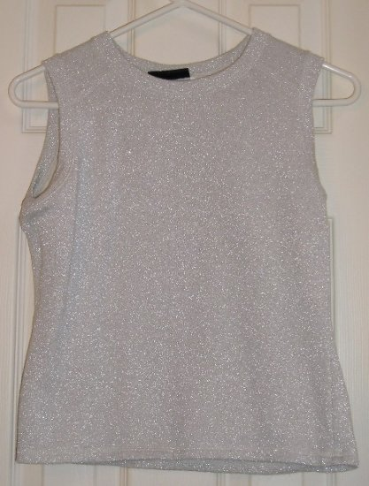 Womens Sleeveless Top  Sweater Shirt Glitter Small Like NEW