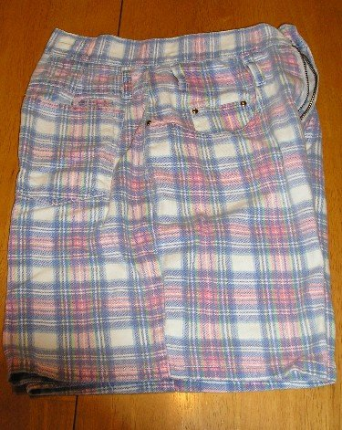 Like New Junior 5/6 Plaid Jean Shorts