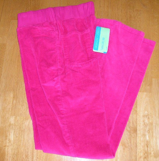 Maternity Announcements Fuscia Pants Corduroy Sz M NEW!