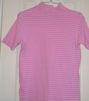 Like New Stretch Sweater Pink White Small Womens Teens!