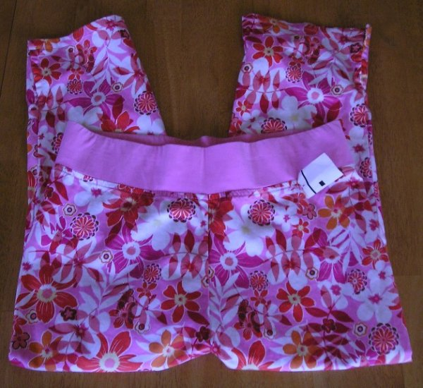 Maternity Announcements Womens Maternity Capris Pink Floral Capri Pants SALE