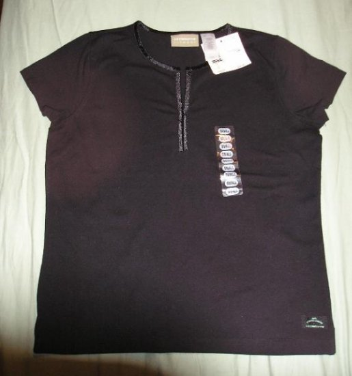 Liz Claiborne NEW Stretch Tee Black - Small - $35 W@W!