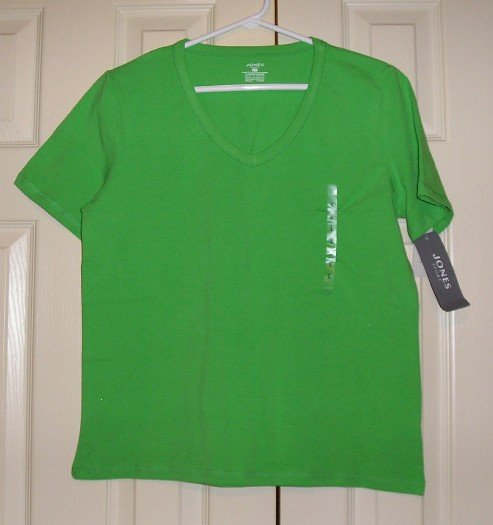 NEW Jones Sport Tagless Stretch Shirt Small Green - $29