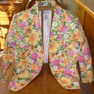 New Jaclyn Smith Career Floral Blazer Jacket Sz. 8 NWT!