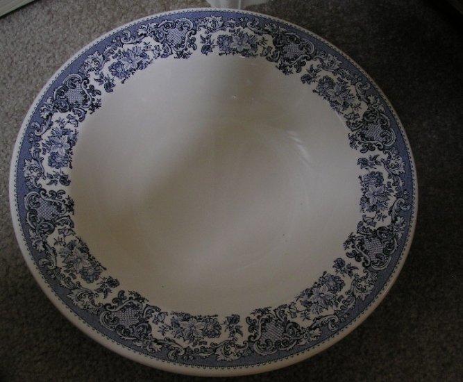 Martha Stewart Serving Bowl Blue White Floral Pattern New