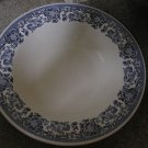 Martha Stewart Serving Bowl Blue White Floral Pattern New
