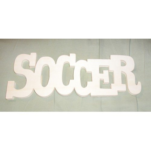 NEW SOCCER Carved Wood Wall Sign Unfinished!