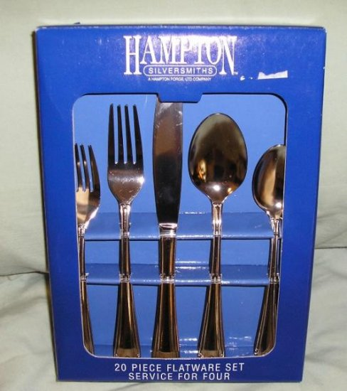 Hampton Silversmiths Flatware Set - 20 Pieces - New in Box!