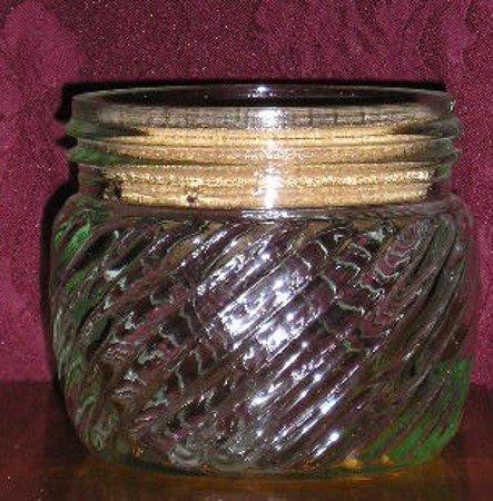 Vintage Powder Glass Jar or Bottle - Must C & Save!