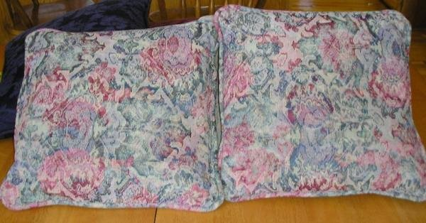 2 Vintage Tapestry Pillows - Great Colors & Style!