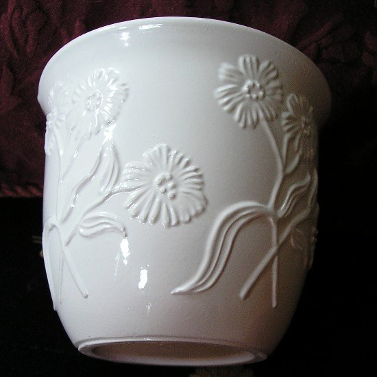 NEW White Ceramic Planter - 5 inches 3-Dimensional!