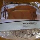 NEW Waffle Weave Sofa SlipCover Carmel Sauce !!