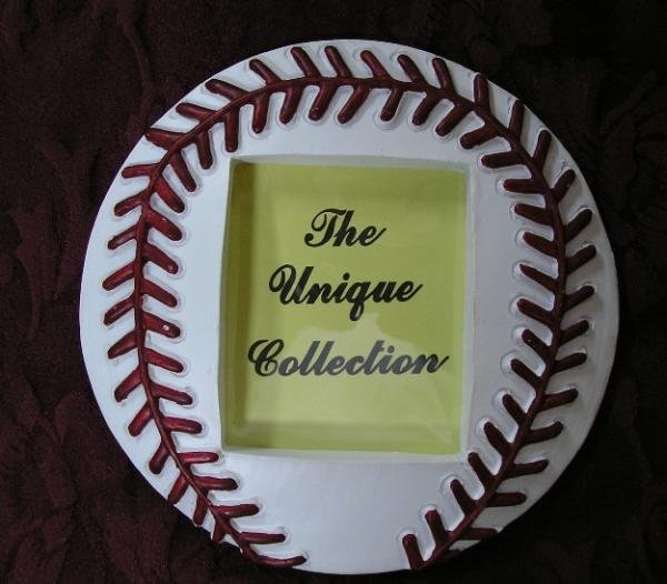 Baseball Shapes Photo Picture Frame Ceramic Mantle Style NEW