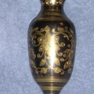 Black & Gold Brass Vase - Stunning & Stylish Gift WoW!