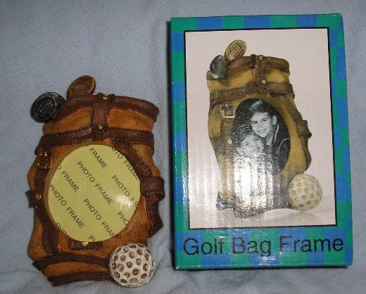 NEW Golf Bag Frame Small Desktop or Mantle Gift!