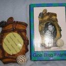 NEW Golf Bag Frame Small Desktop or Mantle Gift!