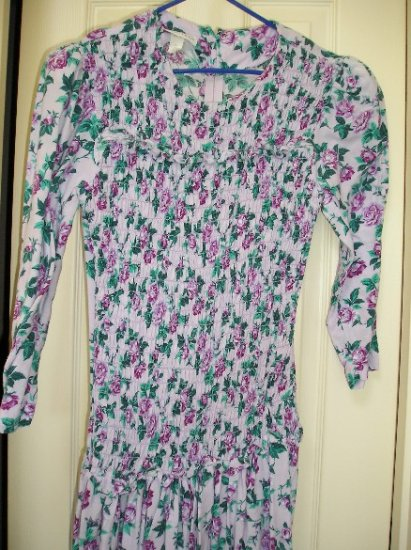 Womens Vintage Retro Flower Power Dress 5/6 - CuTe!