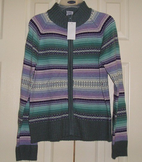 NEW Old Navy Girls Teens Zip Front Sweater XXL - CUTE!