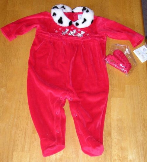 Girls NWT Disney Dalmation Winter Outfit 6-9 M ONE PIECE SALE